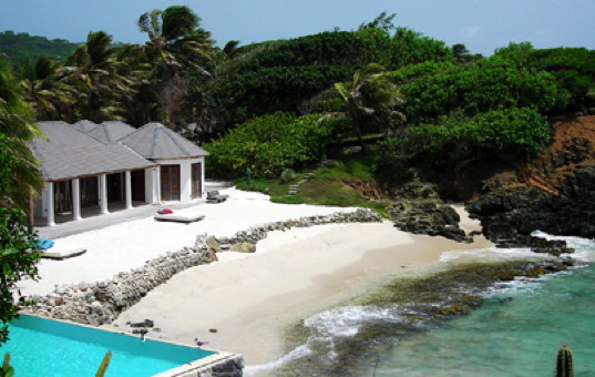 Karibik - Mustique - Point Lookout - Villa mit privatem Strand und Pool