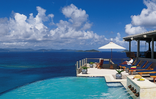 Karibik - BVI | Virgin Gorda - Katitche Point Greathouse - pool einer luxusvilla