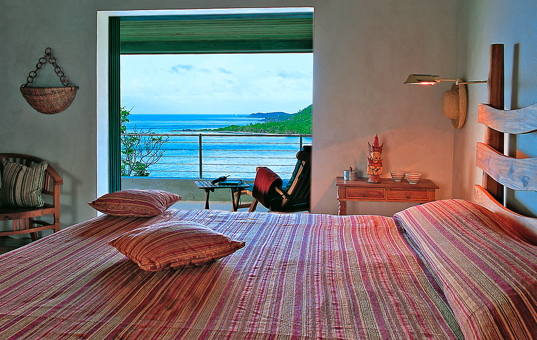 Karibik - BVI | Virgin Gorda - Katitche Point Greathouse - schlafzimmer mit meerblick